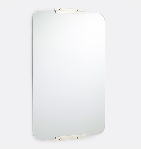 36 Quot Polished Nickel Rounded Rectangle Yaquina Mirror