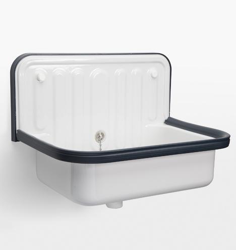 Alape Bucket Sink With Navy Trim Rejuvenation