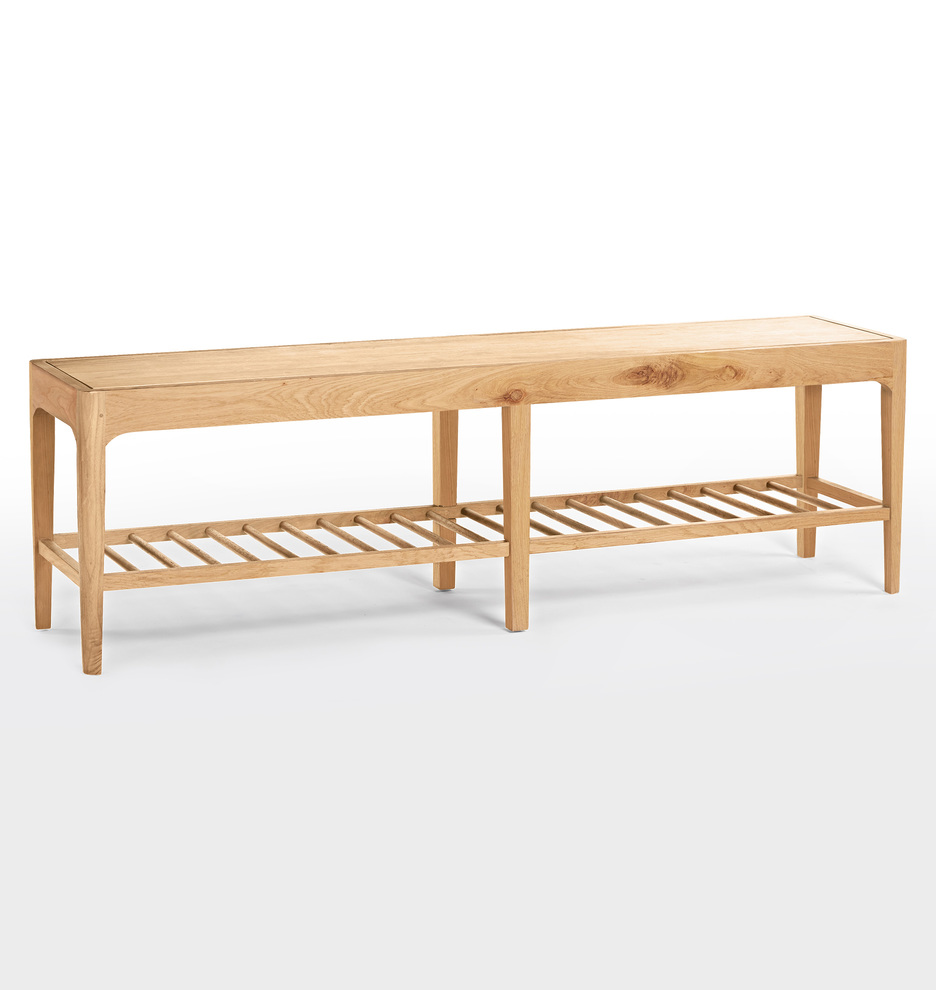 Perkins white oak spindle bench and Neutral and Classic Decor Resources: Interior Designer Favorite Finds on Hello Lovely Studio. Come be inspired!