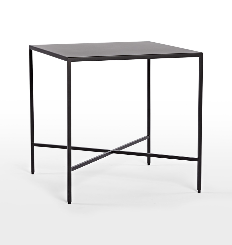 Burton metal side table