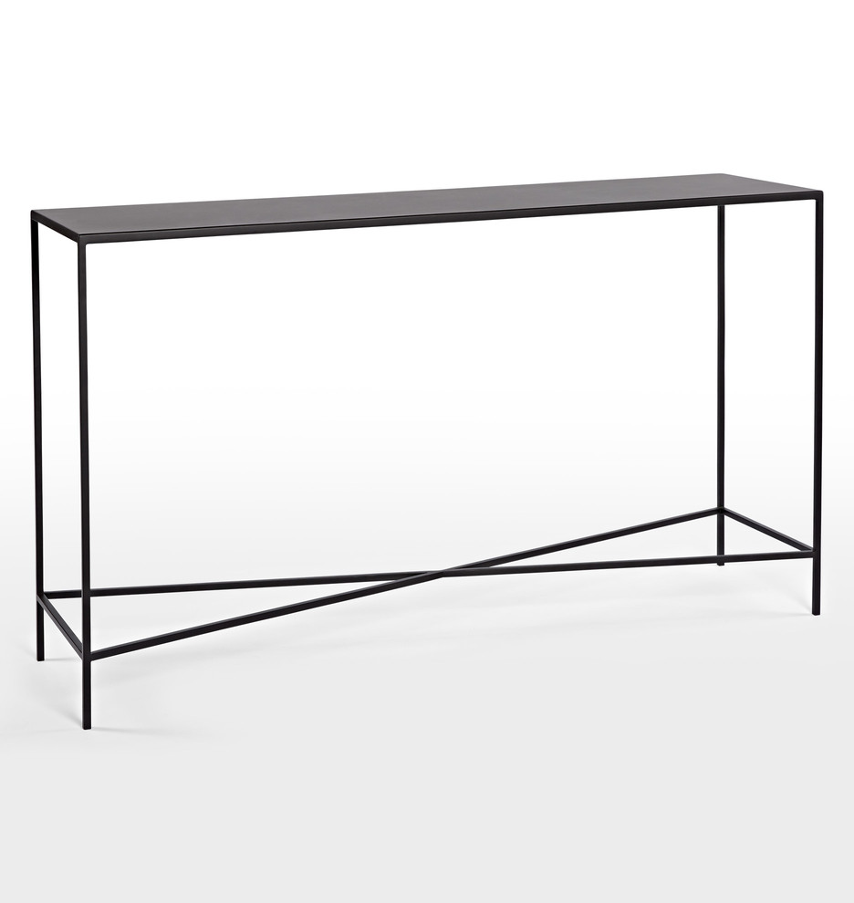 Burton metal console table rejuvenation