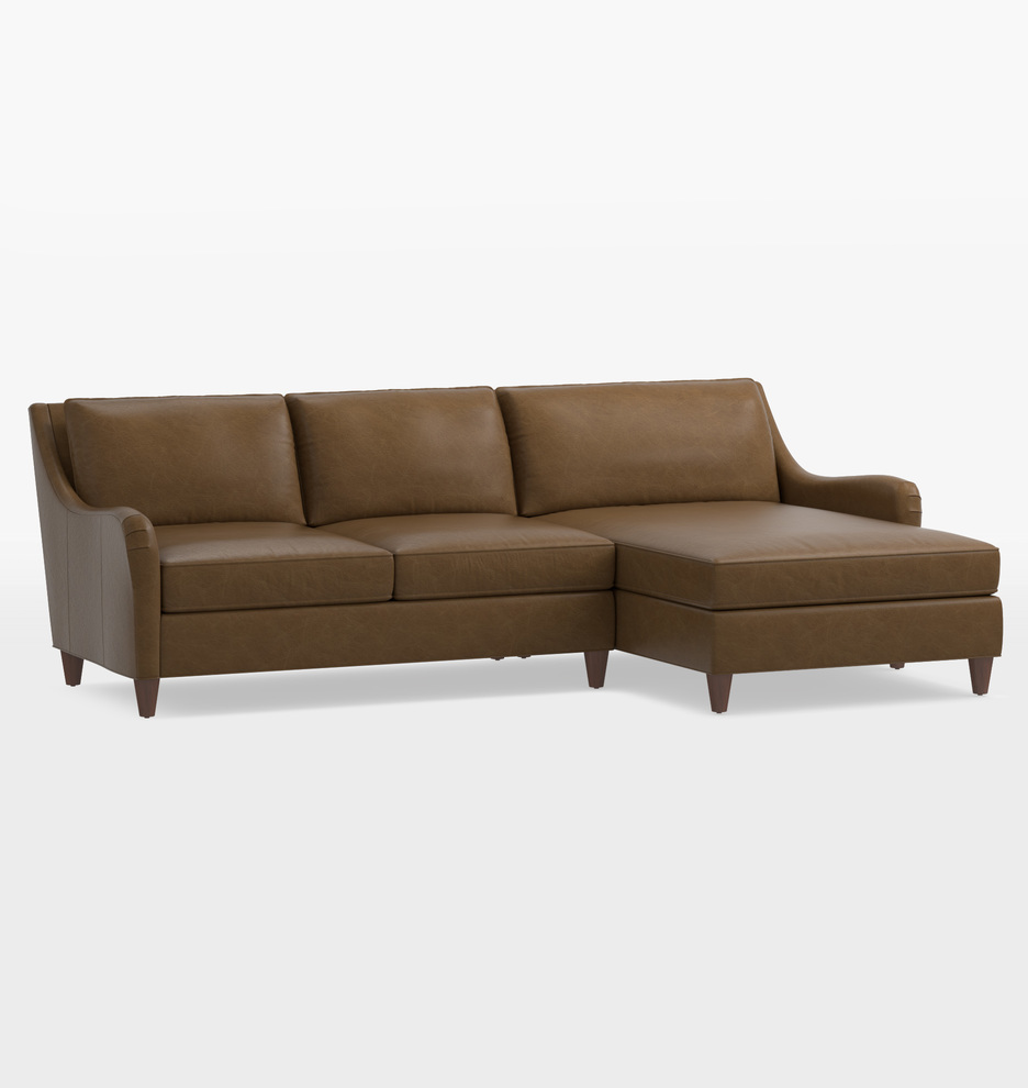 Tremendous Vailer Leather 2 Piece Chaise Sectional Sofa Right Chaise Andrewgaddart Wooden Chair Designs For Living Room Andrewgaddartcom