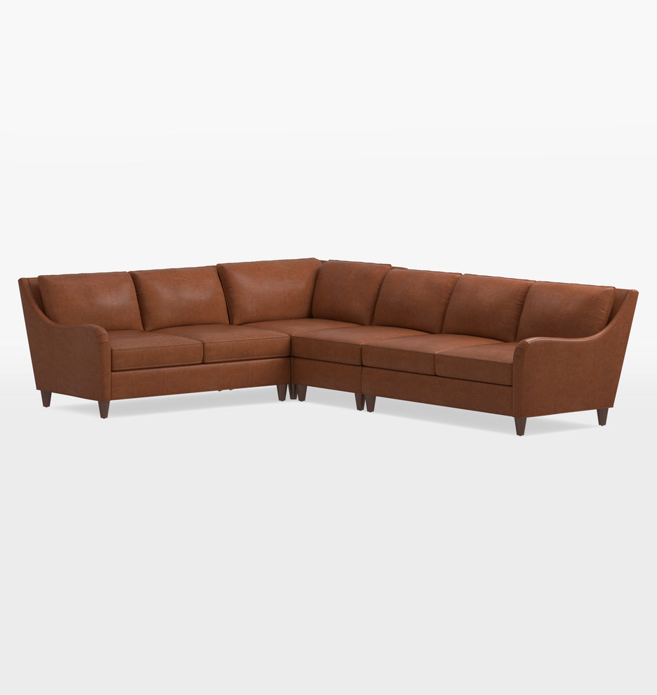 Vailer Leather 4-Piece Sectional Sofa