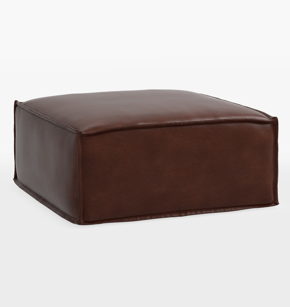 Fabulous Grant 36 Square Leather Ottoman Ncnpc Chair Design For Home Ncnpcorg