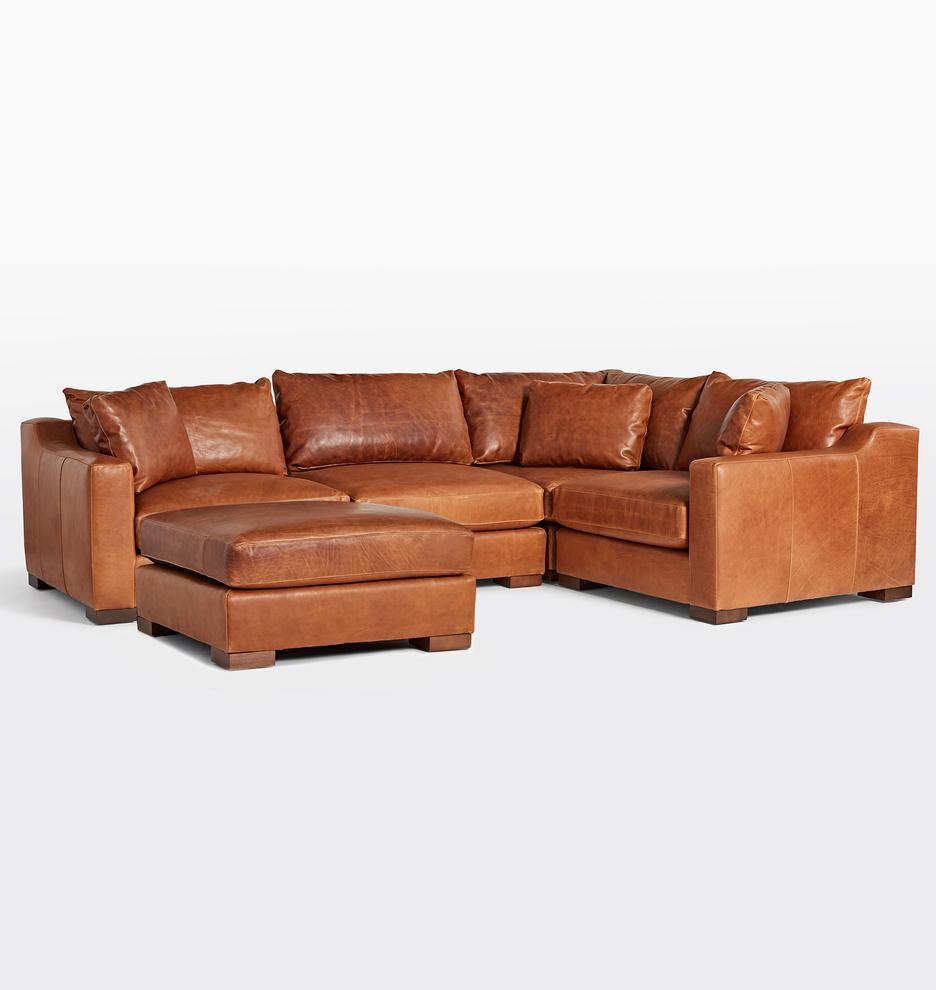- Sublimity Classic 5-Piece Chaise Leather Sectional Sofa Rejuvenation