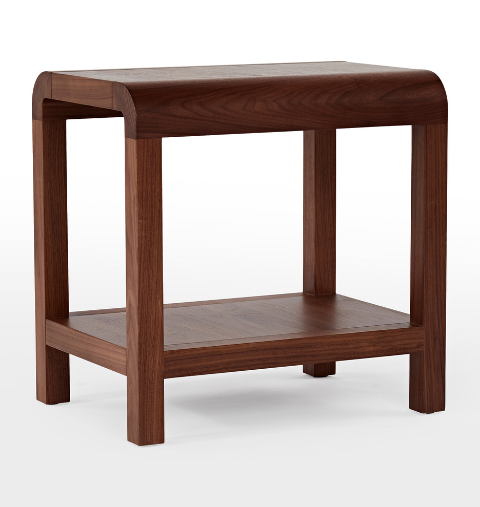 Woodson Walnut Side Table by Rejuvenation
