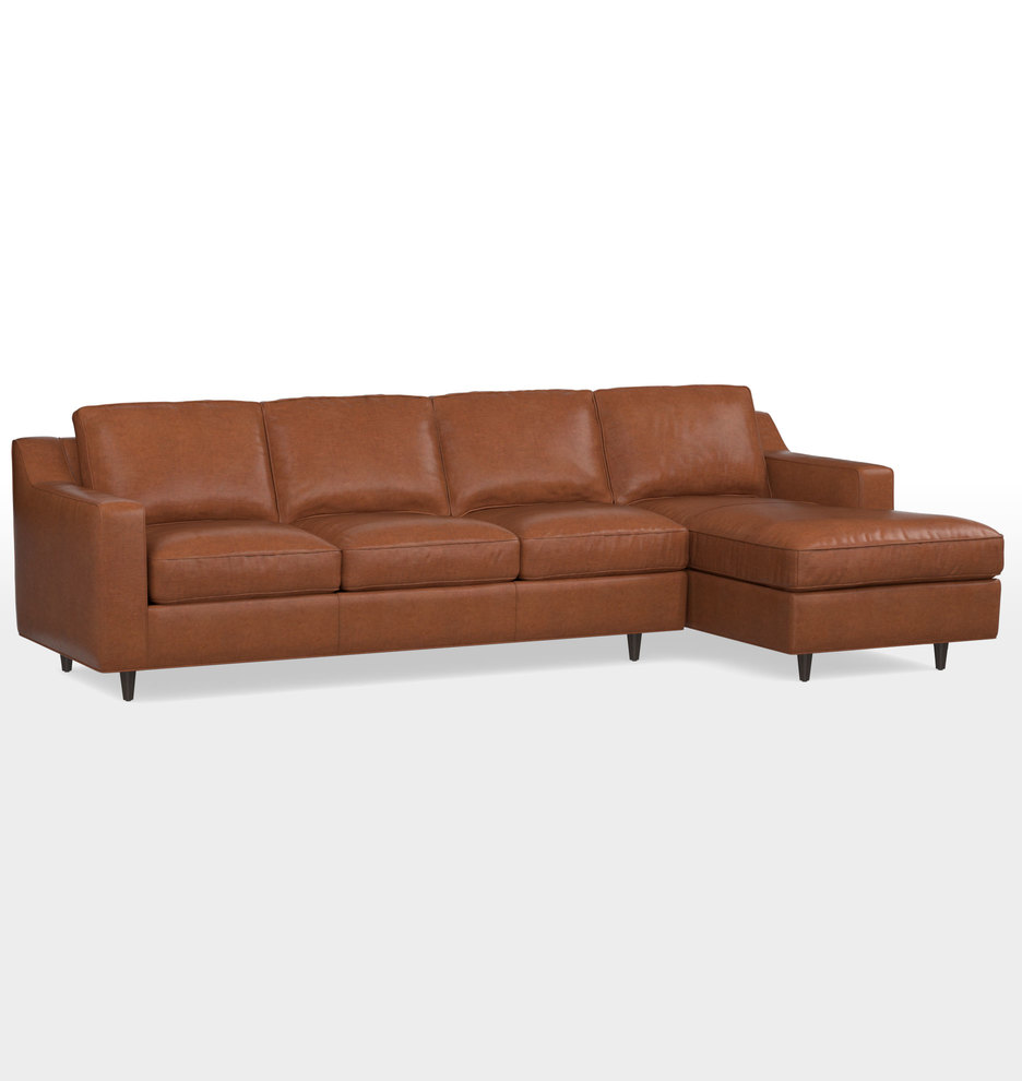 Wondrous 114 Garrison Chaise Sectional Leather Sofa Alphanode Cool Chair Designs And Ideas Alphanodeonline
