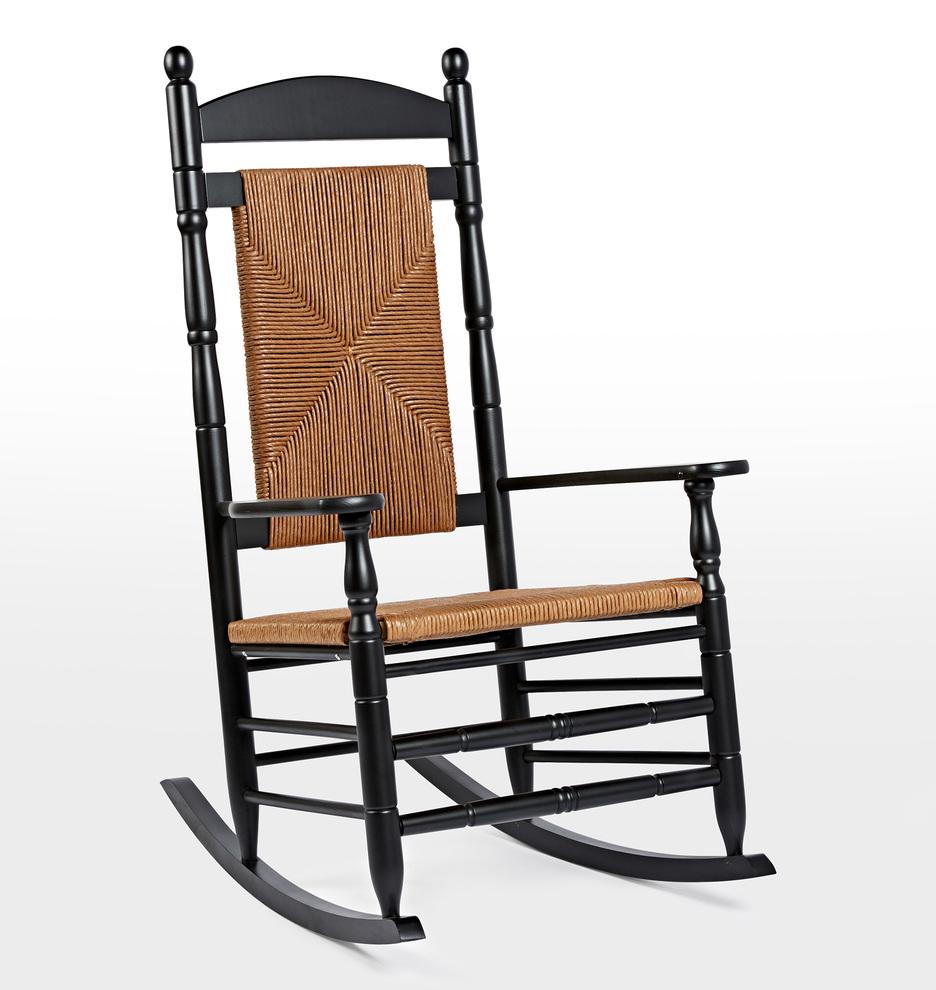 woven seat rocking chair | rejuvenation