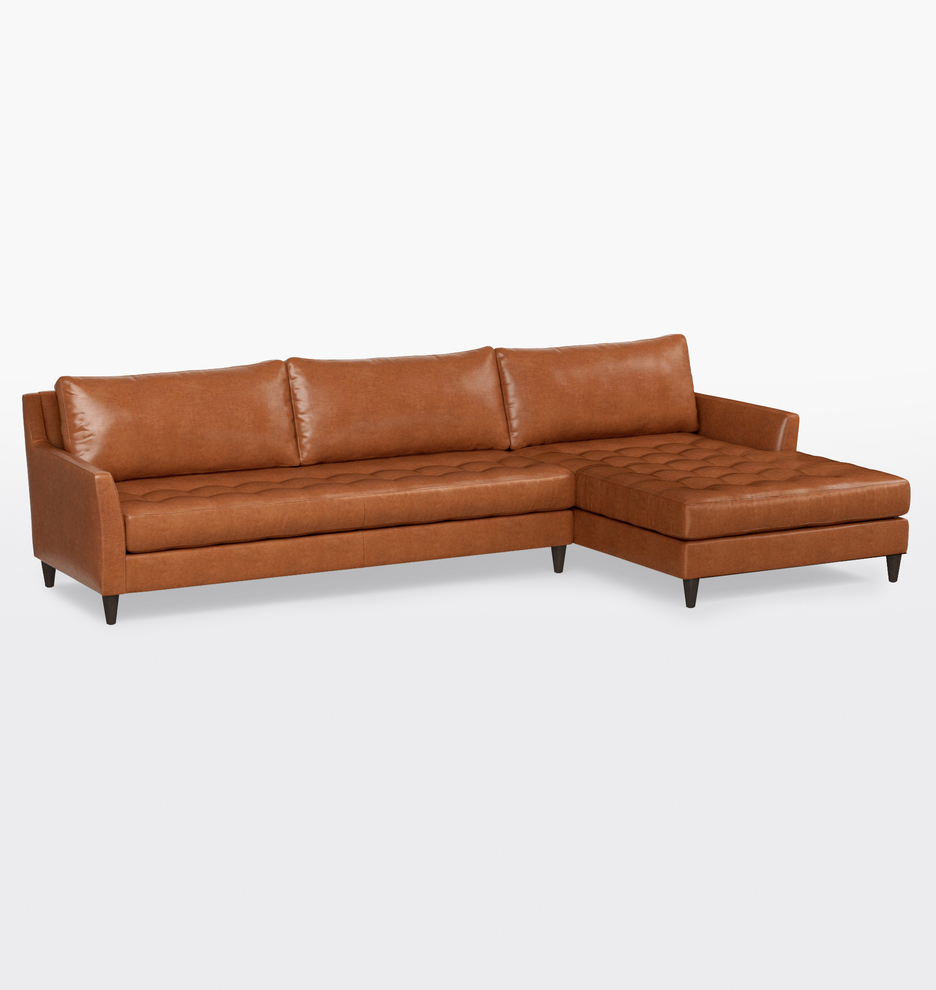 Hastings Sectional Leather Sofa - Right Chaise