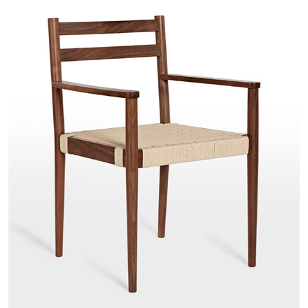 Shaw Walnut Arm Chair