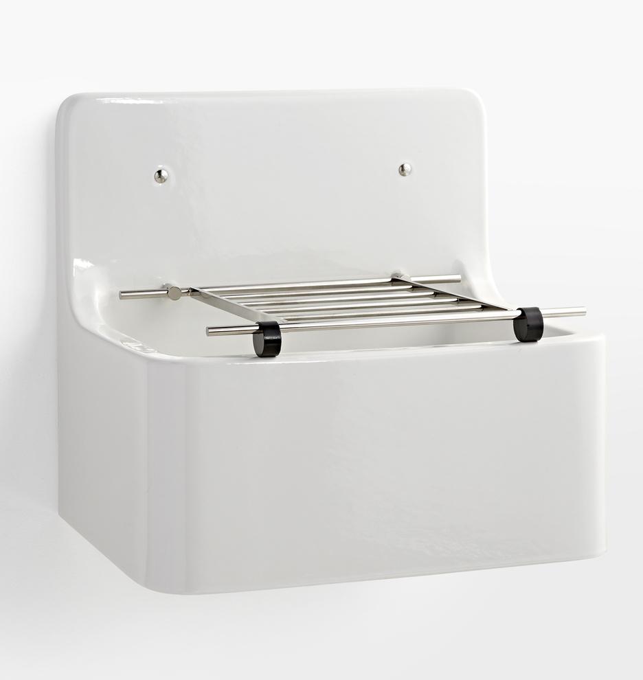 Utility Sink.Lenox Fireclay Utility Sink With Wire Grid