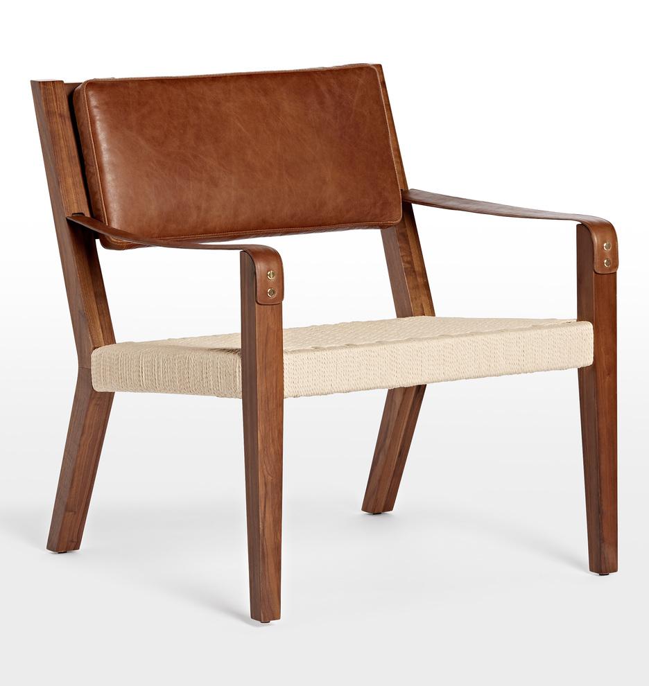 Groovy Shaw Walnut Leather Lounge Chair Ibusinesslaw Wood Chair Design Ideas Ibusinesslaworg
