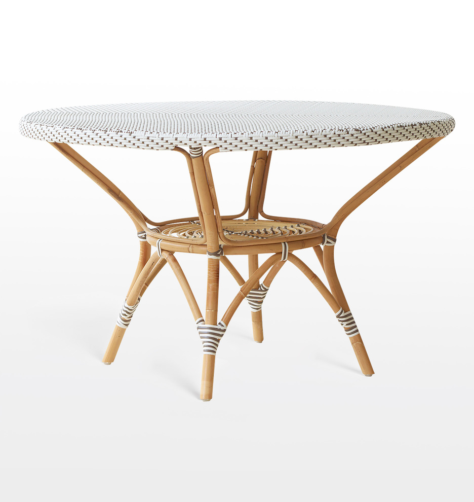 D3072 sikadesign daniellediningtable whitewithcappuccinodots d3072
