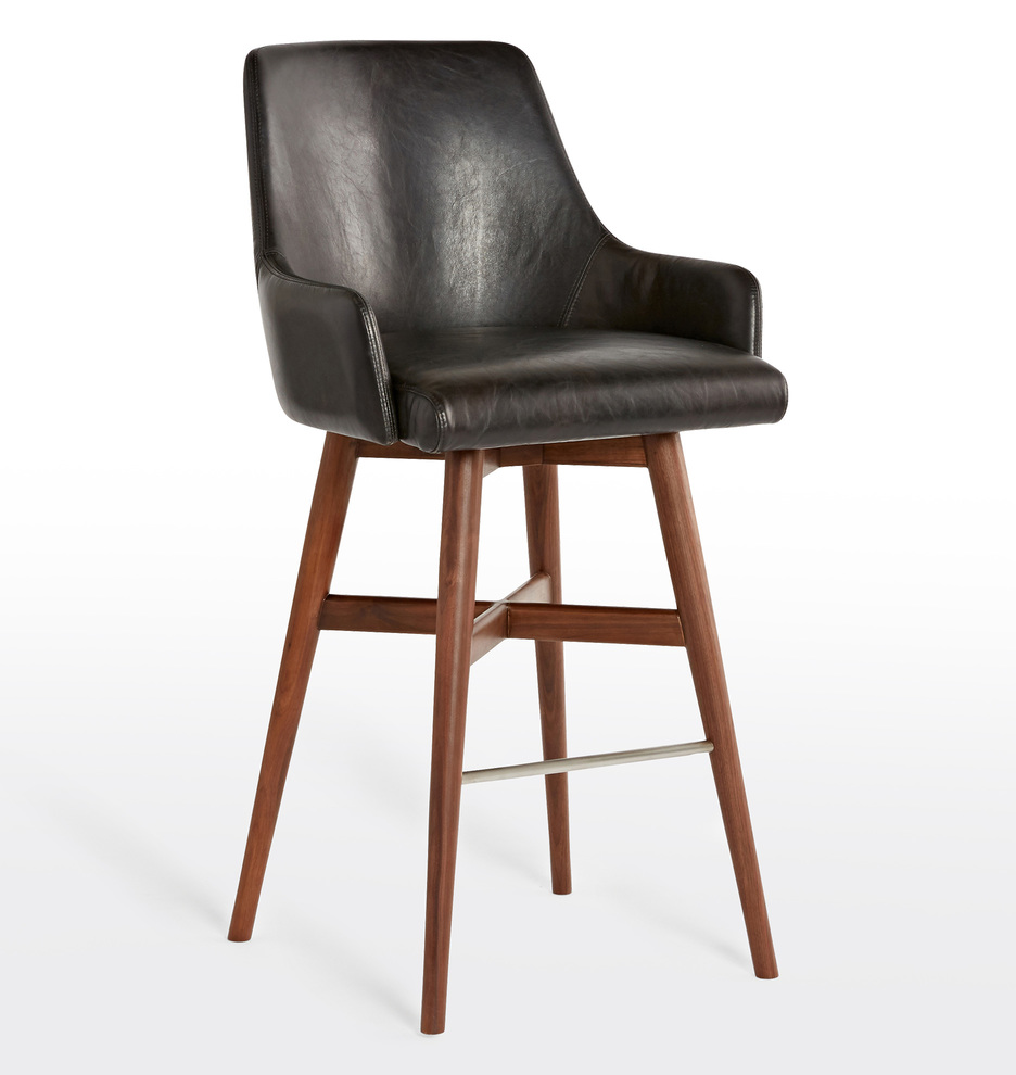 timeless design 4b705 beaef Dexter Swivel Leather Bar Stool