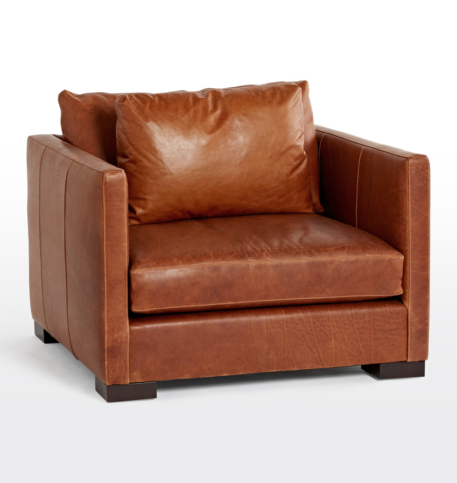 Surprising Wrenton Leather Chair And A Half Pdpeps Interior Chair Design Pdpepsorg
