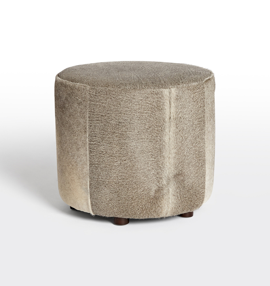 Swell 21 Worley Round Leather Ottoman Alphanode Cool Chair Designs And Ideas Alphanodeonline