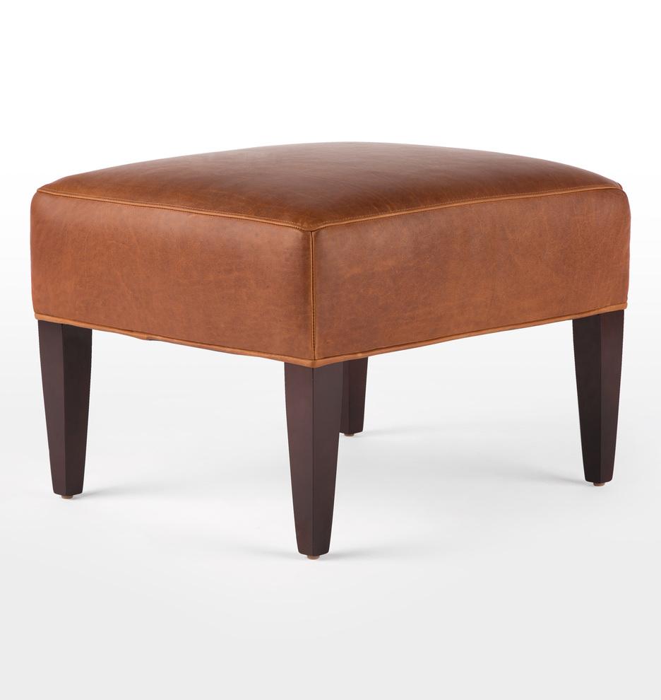Marvelous Clinton Leather Ottoman Short Links Chair Design For Home Short Linksinfo
