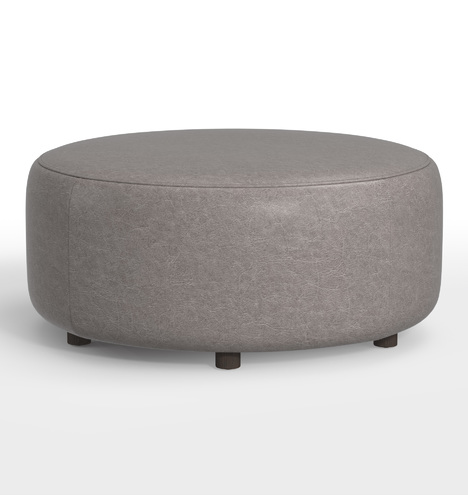 Strange 36 Worley Round Leather Ottoman Gmtry Best Dining Table And Chair Ideas Images Gmtryco