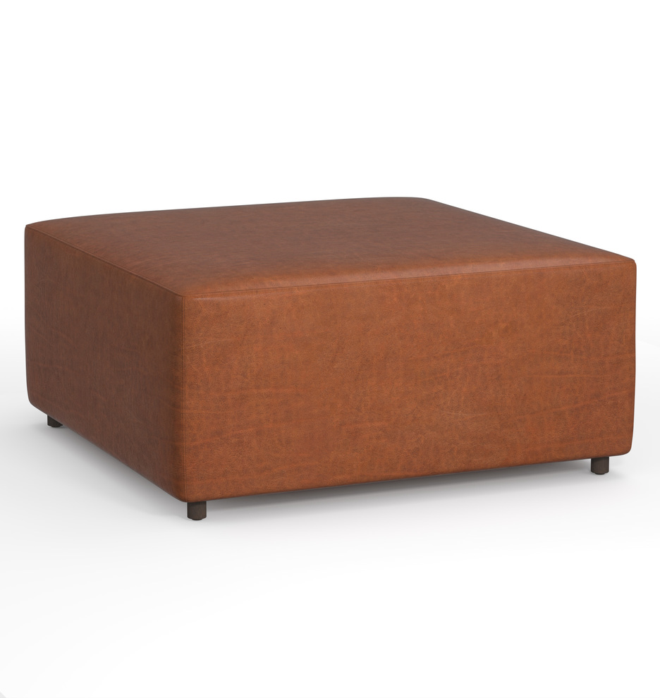 Peachy 36 Worley Square Leather Ottoman Squirreltailoven Fun Painted Chair Ideas Images Squirreltailovenorg