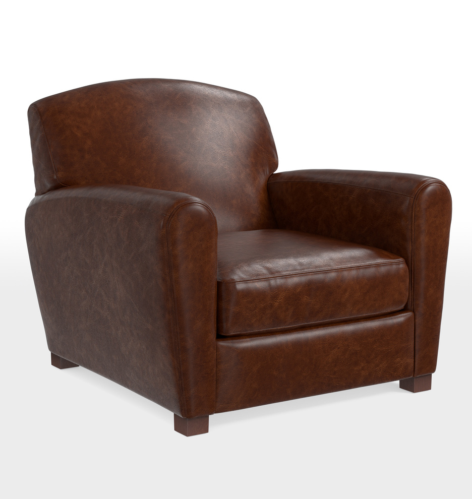 Doyle Leather Club Chair   Rejuvenation