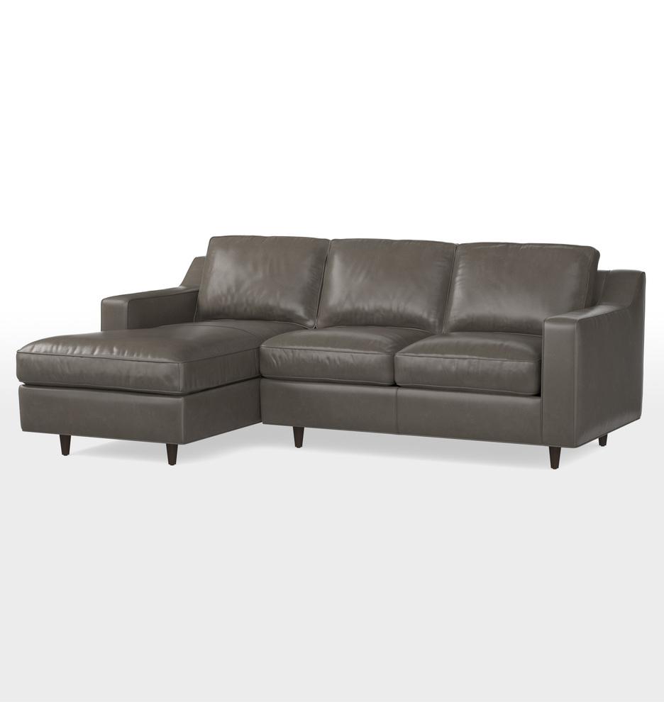 Product description shop the garrison chaise sectional sofa