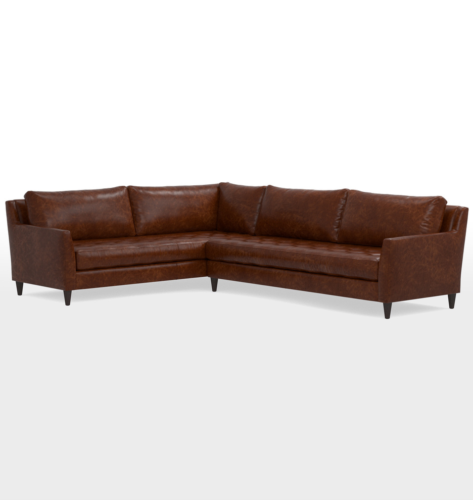 Hastings Sectional Leather Sofa Rejuvenation