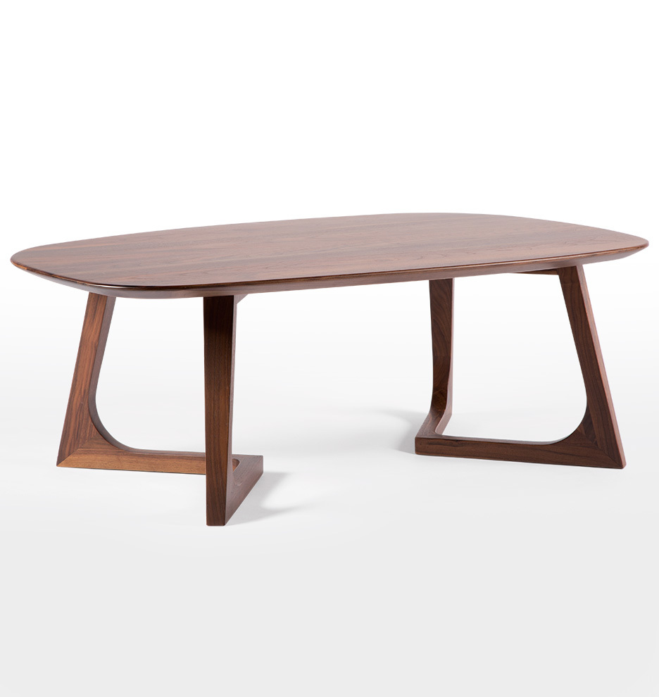 Cb2 Mid Century Coffee Table: Chevron Walnut Coffee Table