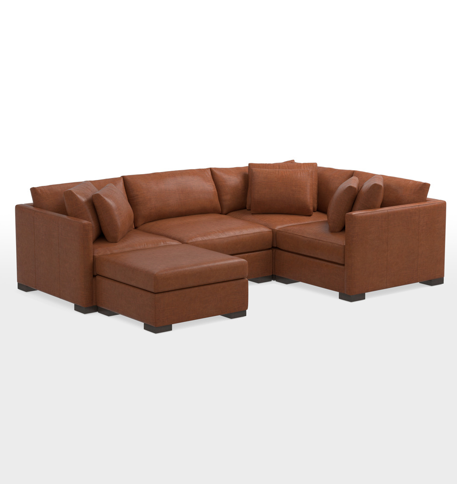 Sensational Wrenton 5 Piece Chaise Leather Sectional Sofa Alphanode Cool Chair Designs And Ideas Alphanodeonline