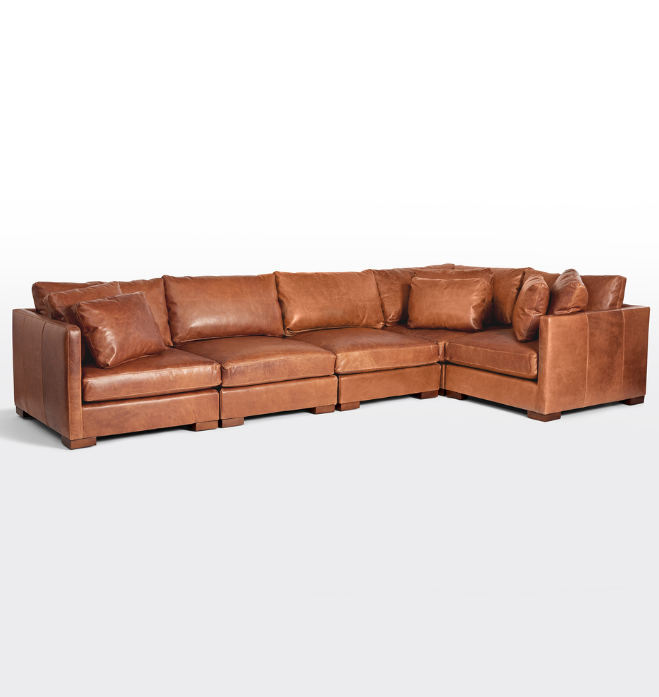 Fantastic Wrenton 5 Piece Leather Sectional Sofa Alphanode Cool Chair Designs And Ideas Alphanodeonline