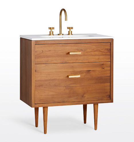 Marquam Teak Single Vanity Rejuvenation