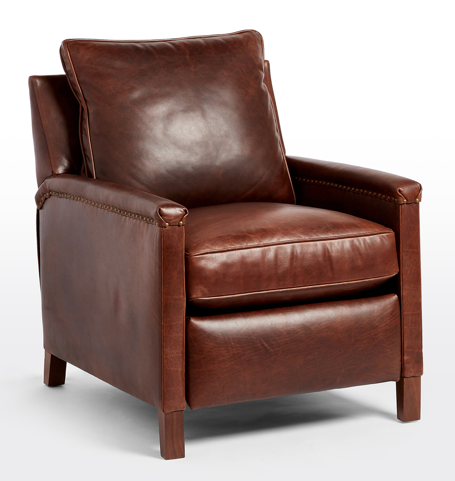 Thorp Leather Manual Recliner Chair Rejuvenation