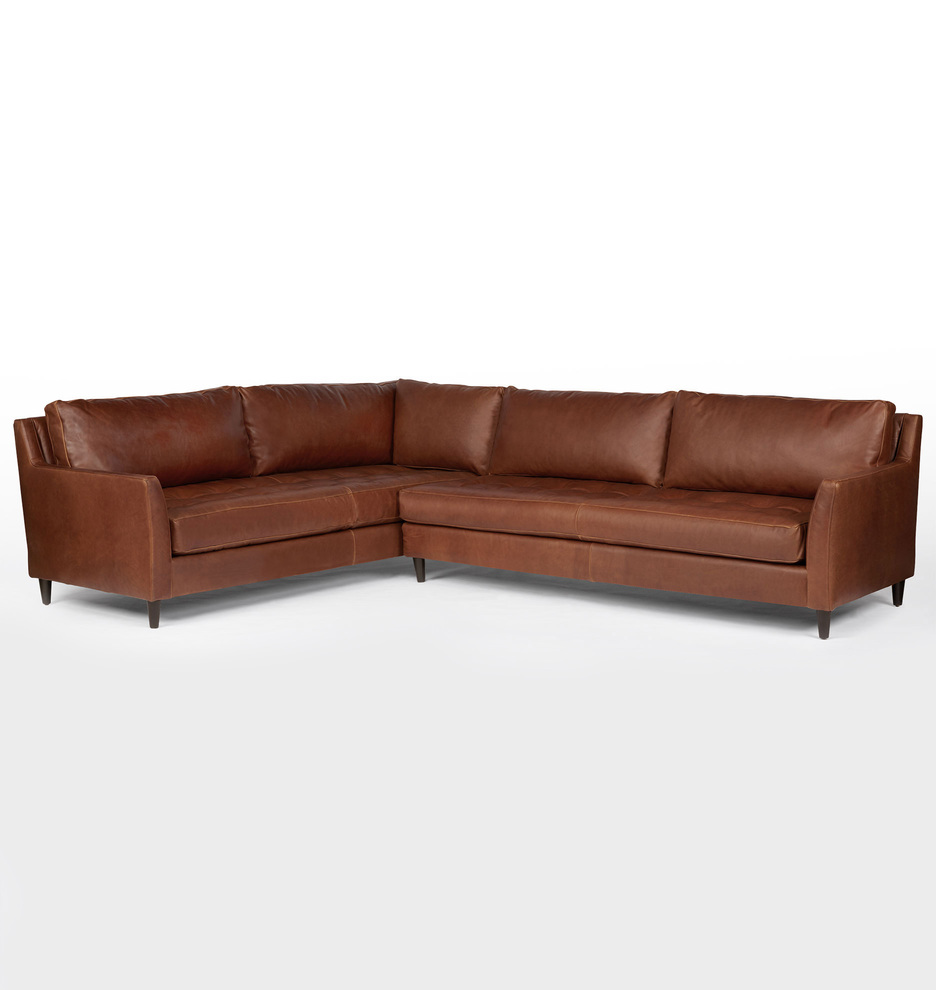 Hastings Sectional Leather Sofa - Right Arm