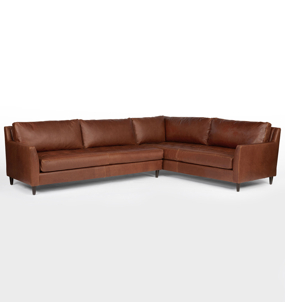 Hastings Sectional Leather Sofa - Left Arm
