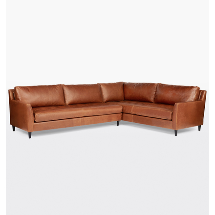 Hastings Sectional Leather Sofa - Right Arm | Rejuvenation