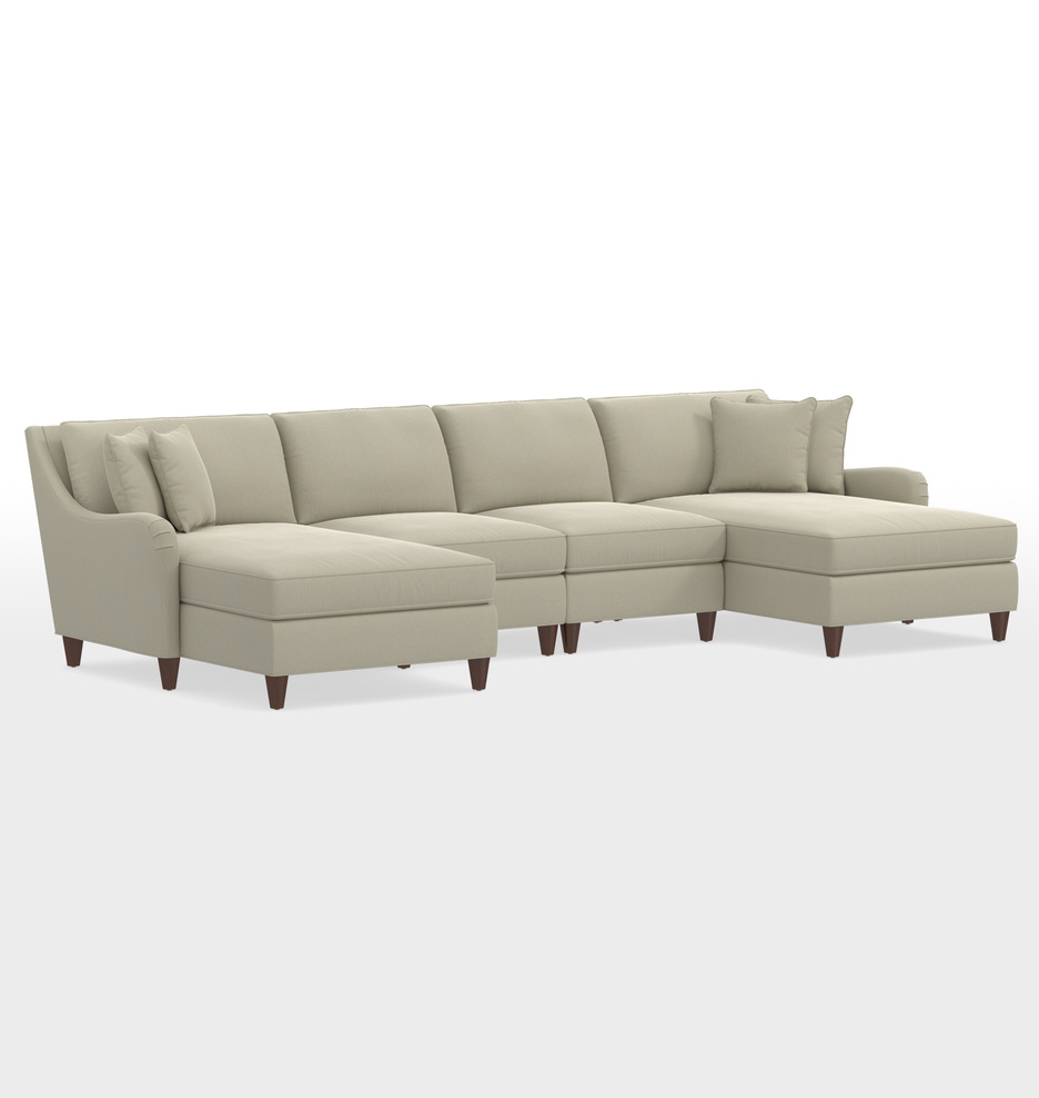 Vailer 4-Piece Double Chaise Sectional Sofa