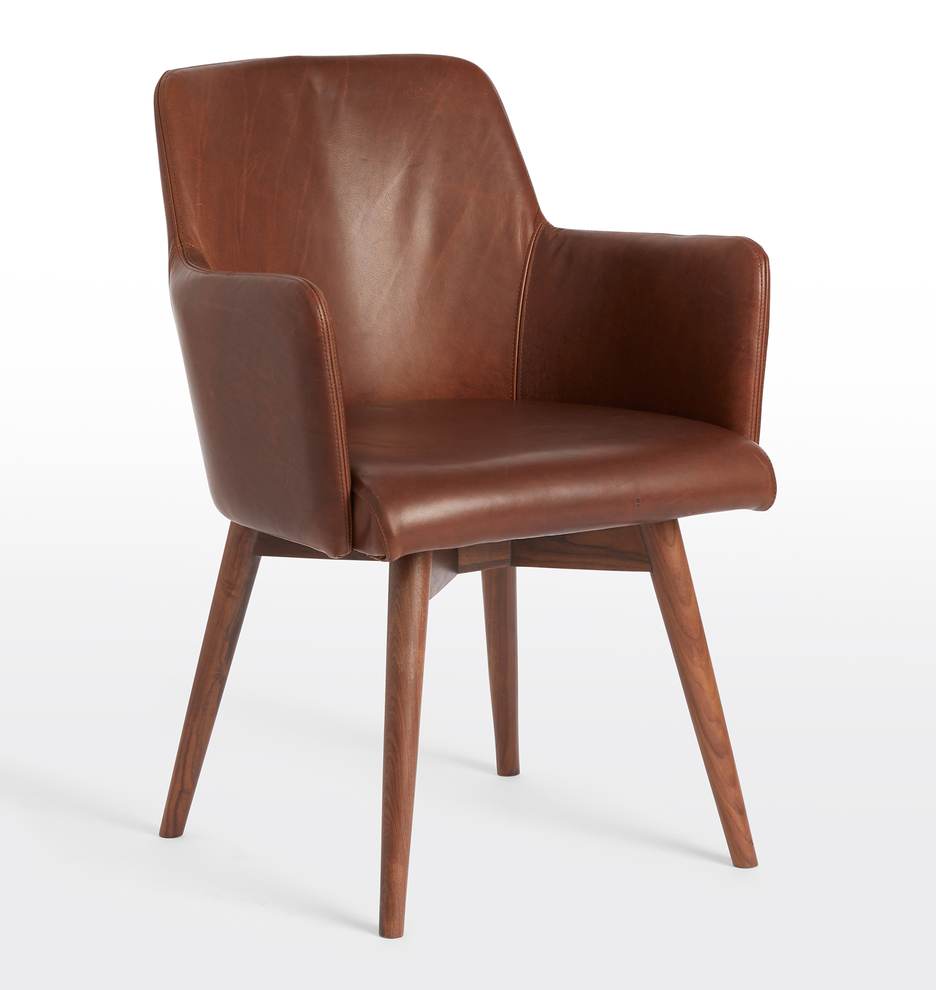 Magnificent Dexter Leather Arm Chair Short Links Chair Design For Home Short Linksinfo