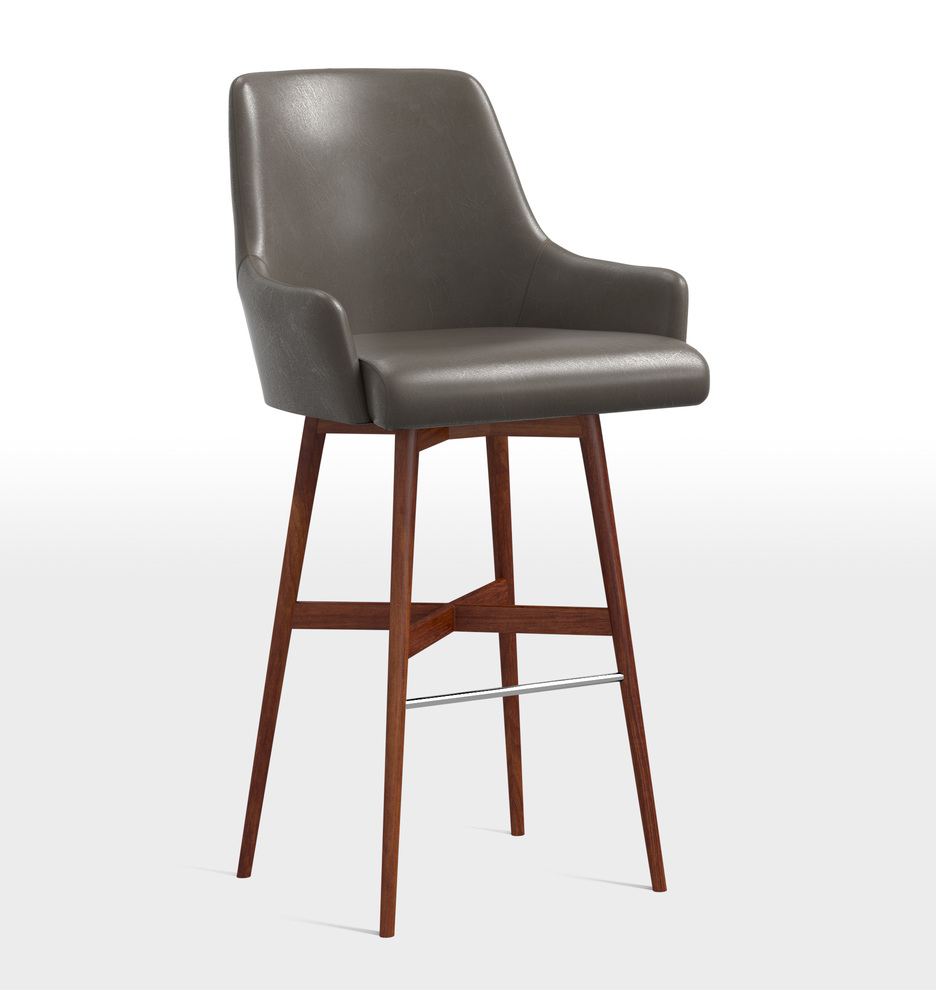 Strange Dexter Swivel Leather Bar Stool Onthecornerstone Fun Painted Chair Ideas Images Onthecornerstoneorg