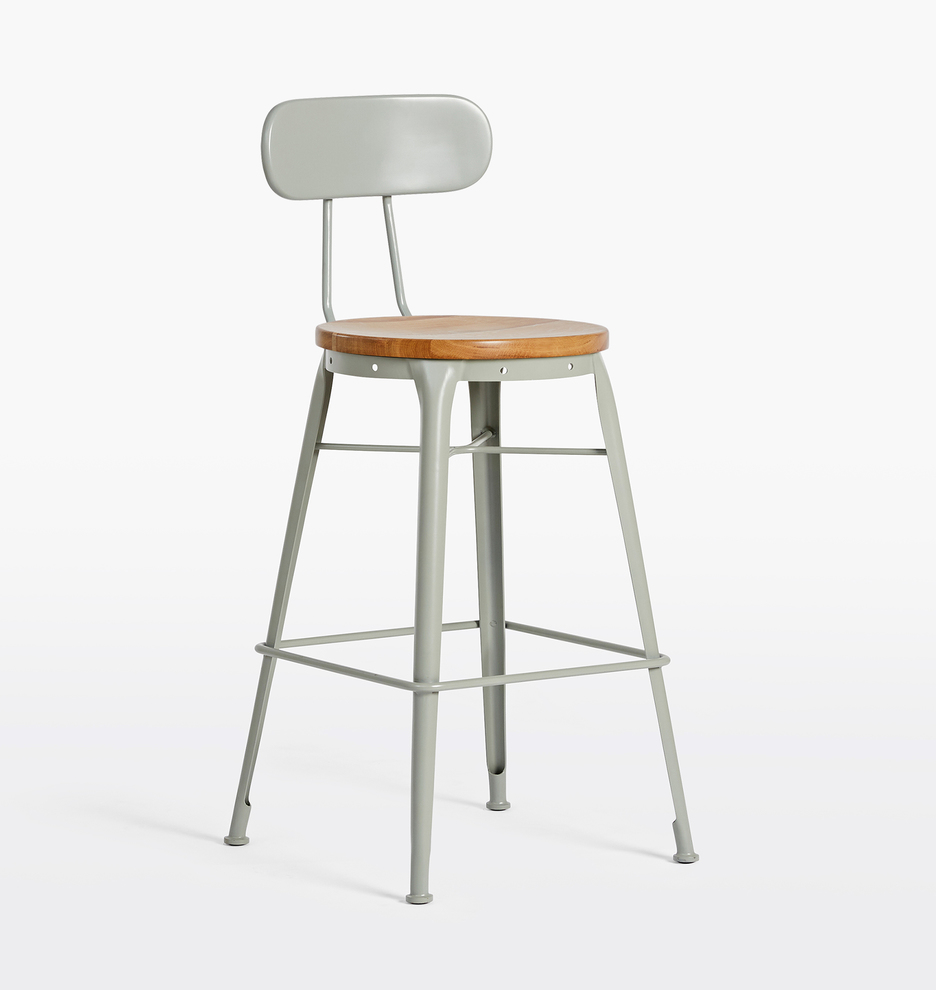 Cool Cobb Counter Stool With Back Squirreltailoven Fun Painted Chair Ideas Images Squirreltailovenorg