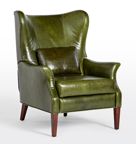 Clinton Modern Wingback Leather Recliner Chair Rejuvenation