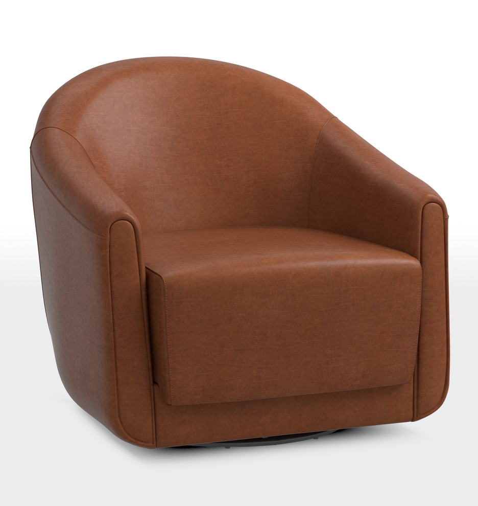 Awe Inspiring Maudlow Leather Swivel Chair Alphanode Cool Chair Designs And Ideas Alphanodeonline