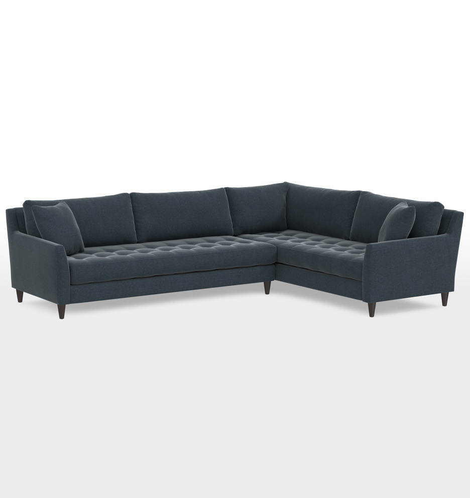 Remarkable Hastings Deep Sectional Sofa Left Arm Evergreenethics Interior Chair Design Evergreenethicsorg