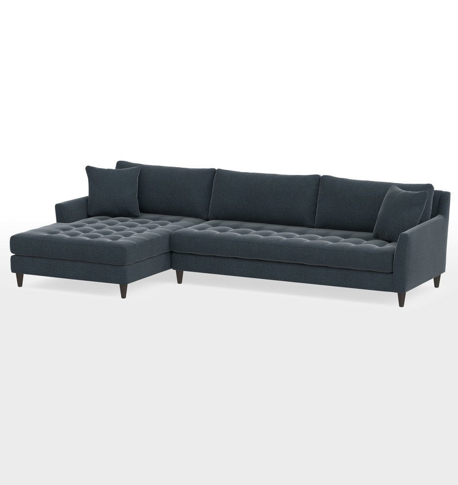 Excellent Hastings Deep Sectional Sofa Left Chaise Pabps2019 Chair Design Images Pabps2019Com