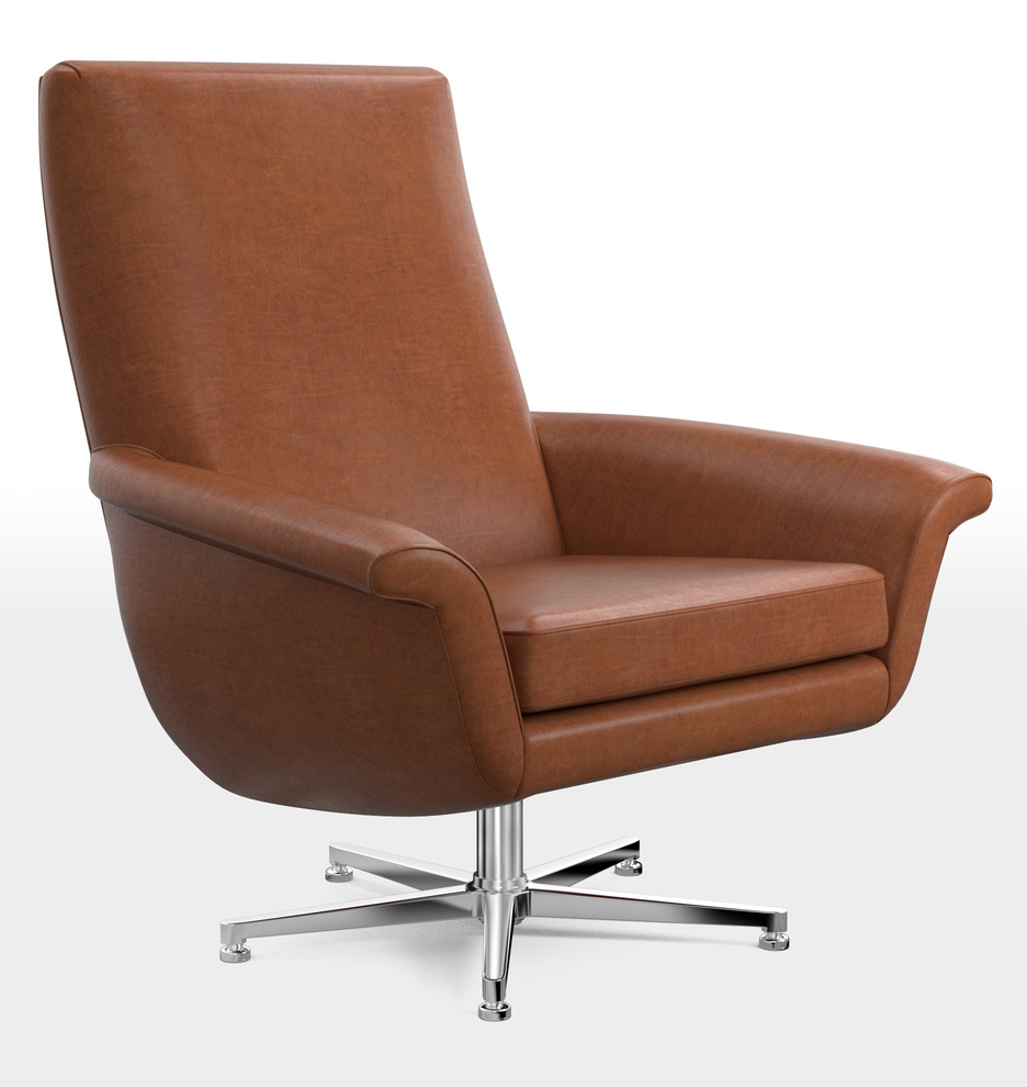 Excellent Brogan Leather Swivel Chair Caraccident5 Cool Chair Designs And Ideas Caraccident5Info