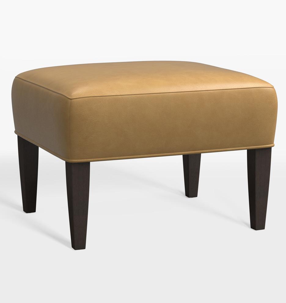 Terrific Clinton Leather Ottoman Short Links Chair Design For Home Short Linksinfo
