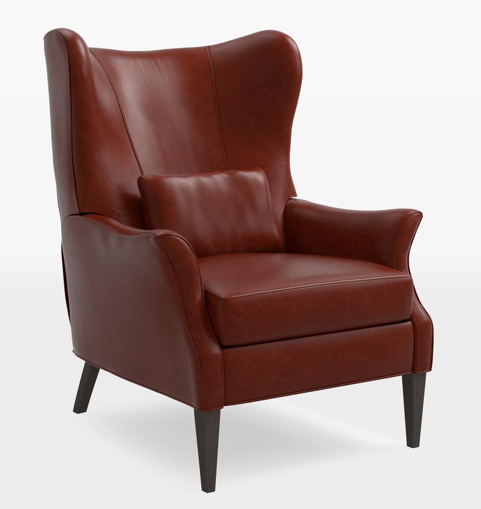 Enjoyable Clinton Modern Wingback Leather Recliner Chair Uwap Interior Chair Design Uwaporg