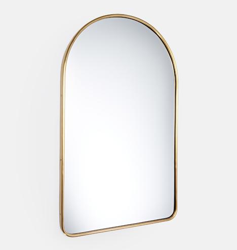 Aged Brass Arched Metal Framed Mirror Rejuvenation