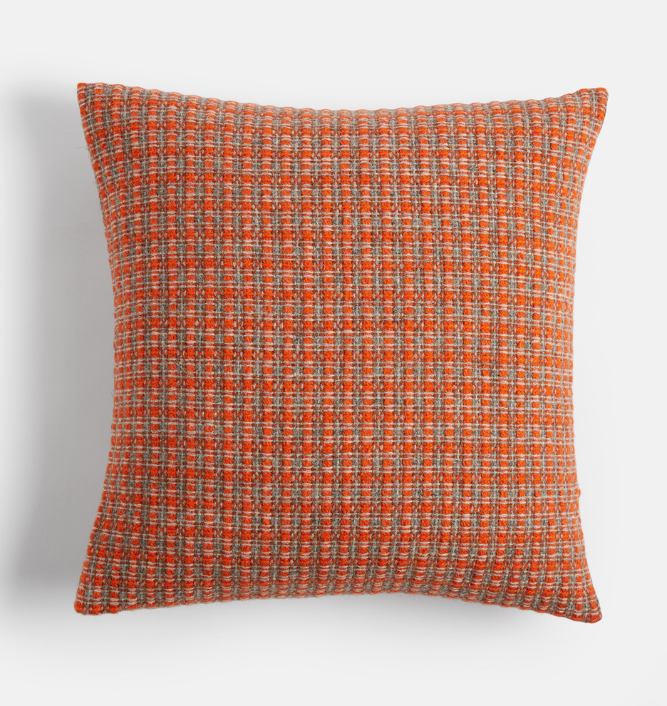 Wool Mended Tweed Pillow Cover by Rejuvenation