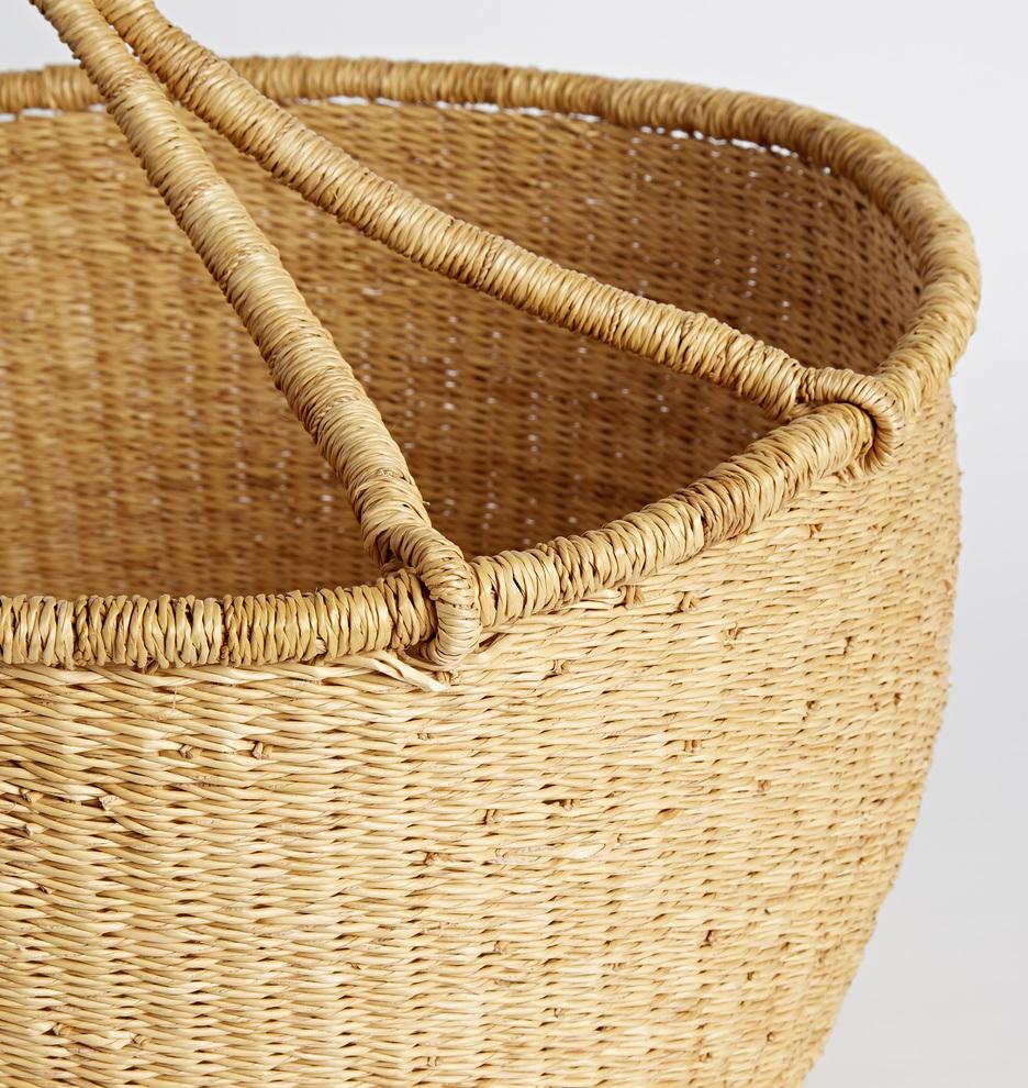 Natural Woven Round Basket | Rejuvenation