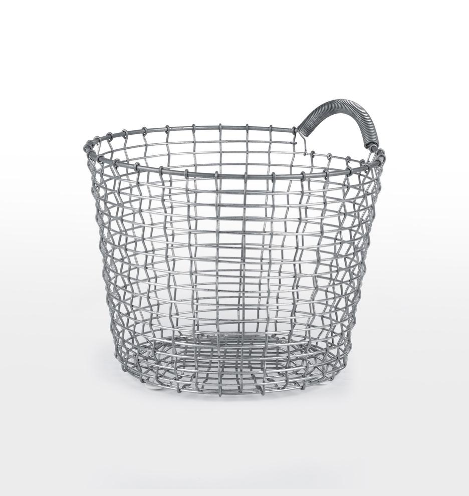 Korbo 16 Handmade Wire Basket with Handle | Rejuvenation