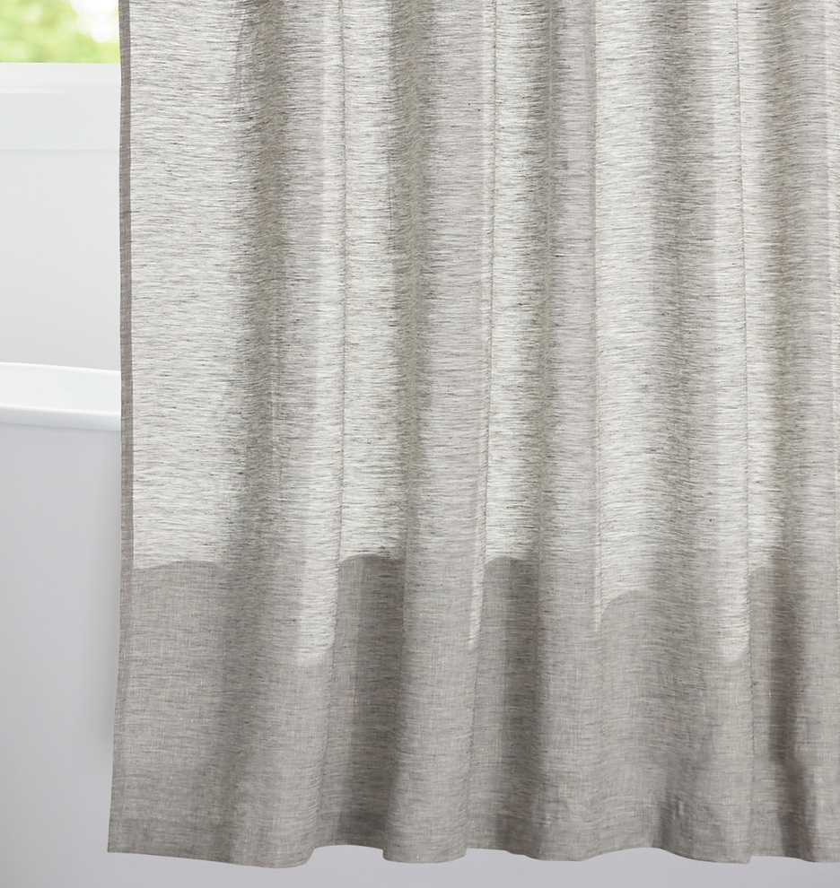 Gray Linen Shower Curtain Rejuvenation